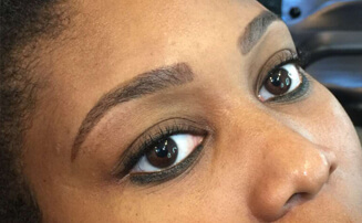 henna brow shaping