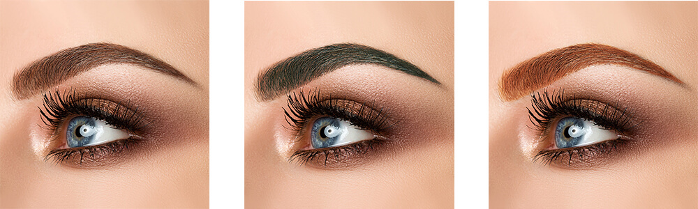 henna brows color tint options