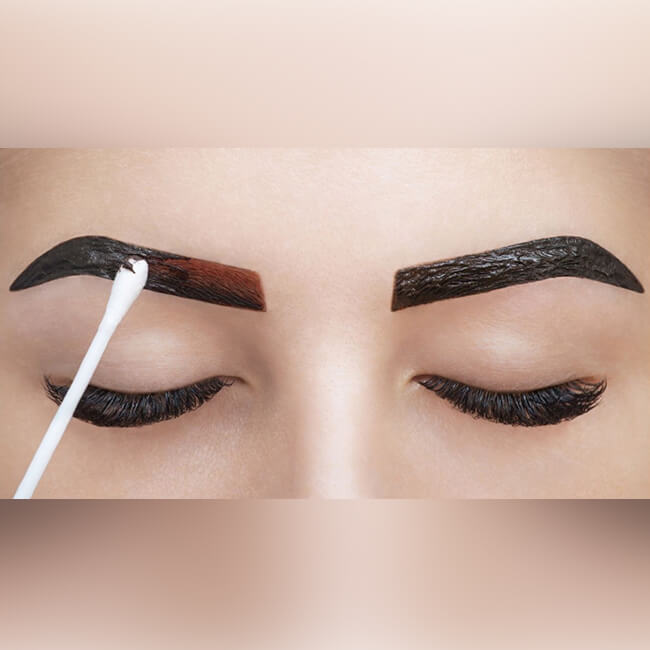 mix old henna brow powder with new one